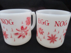 Cannot go wrong with a vintage cup of egg nog.