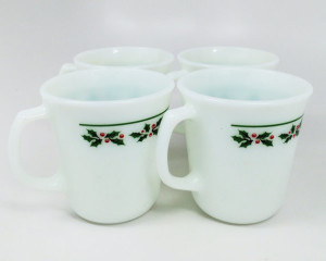 These classy holly mugs would look great next to the coffee maker on Christmas morning.