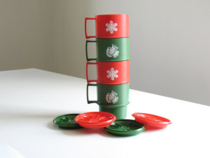 This stackable tupperware set could last for many Christmas parties to come!